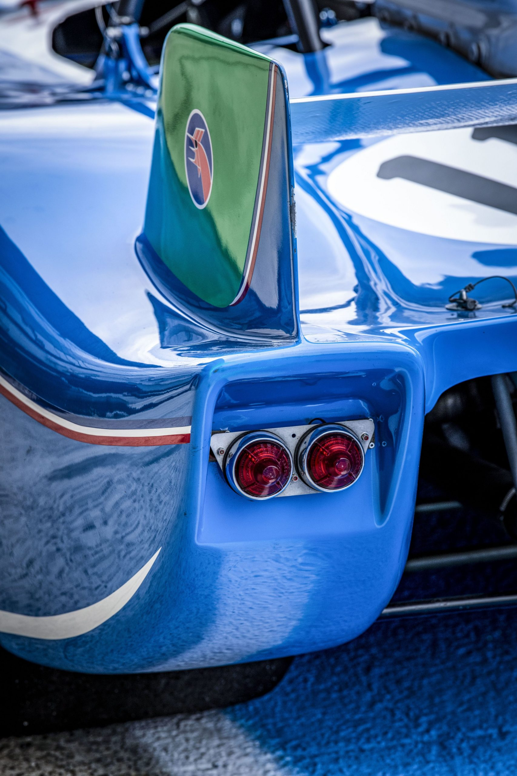 1972 Matra MS 670 rear taillight aerodynamic detail