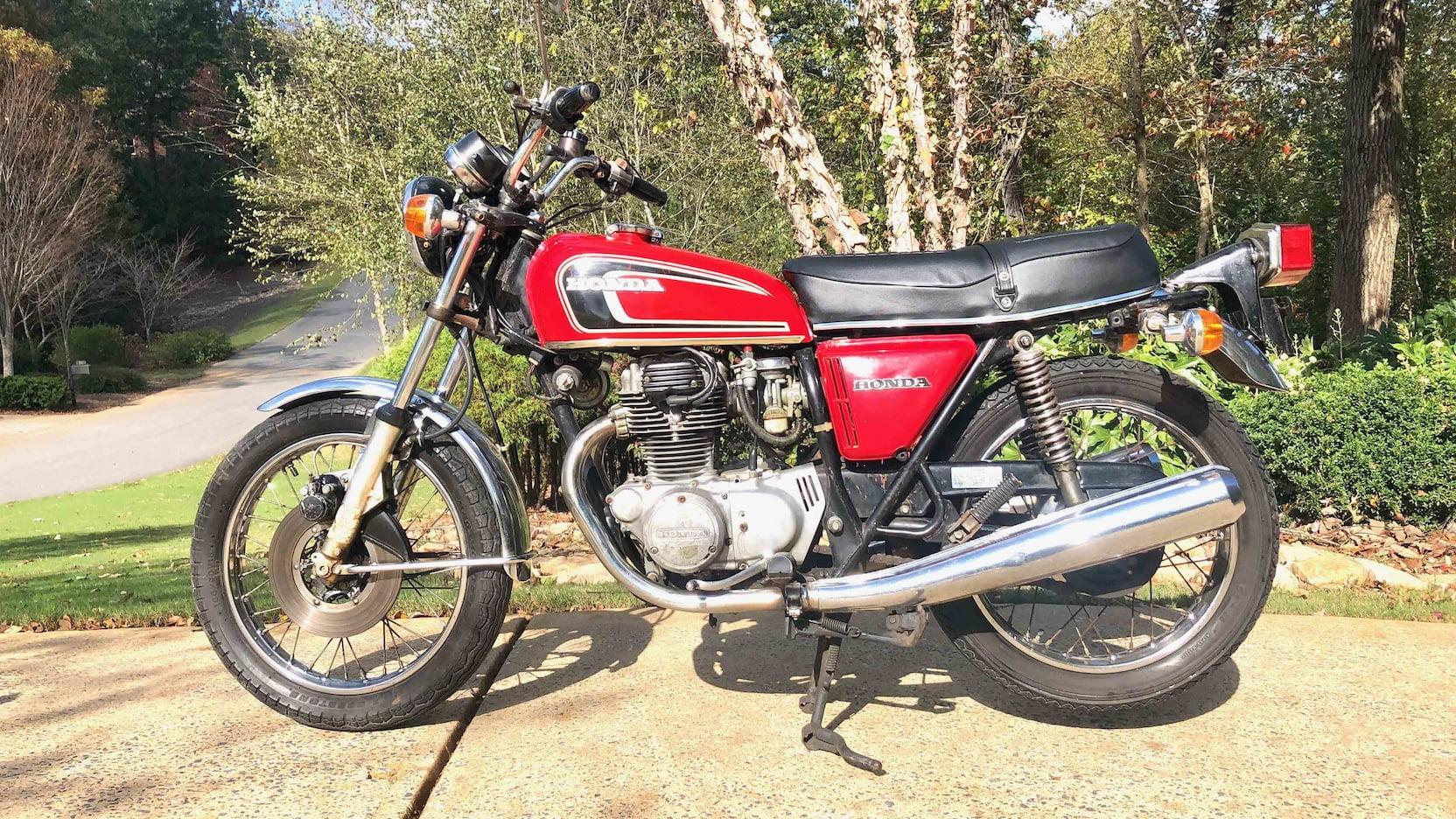 1975 Honda CB360 side profile