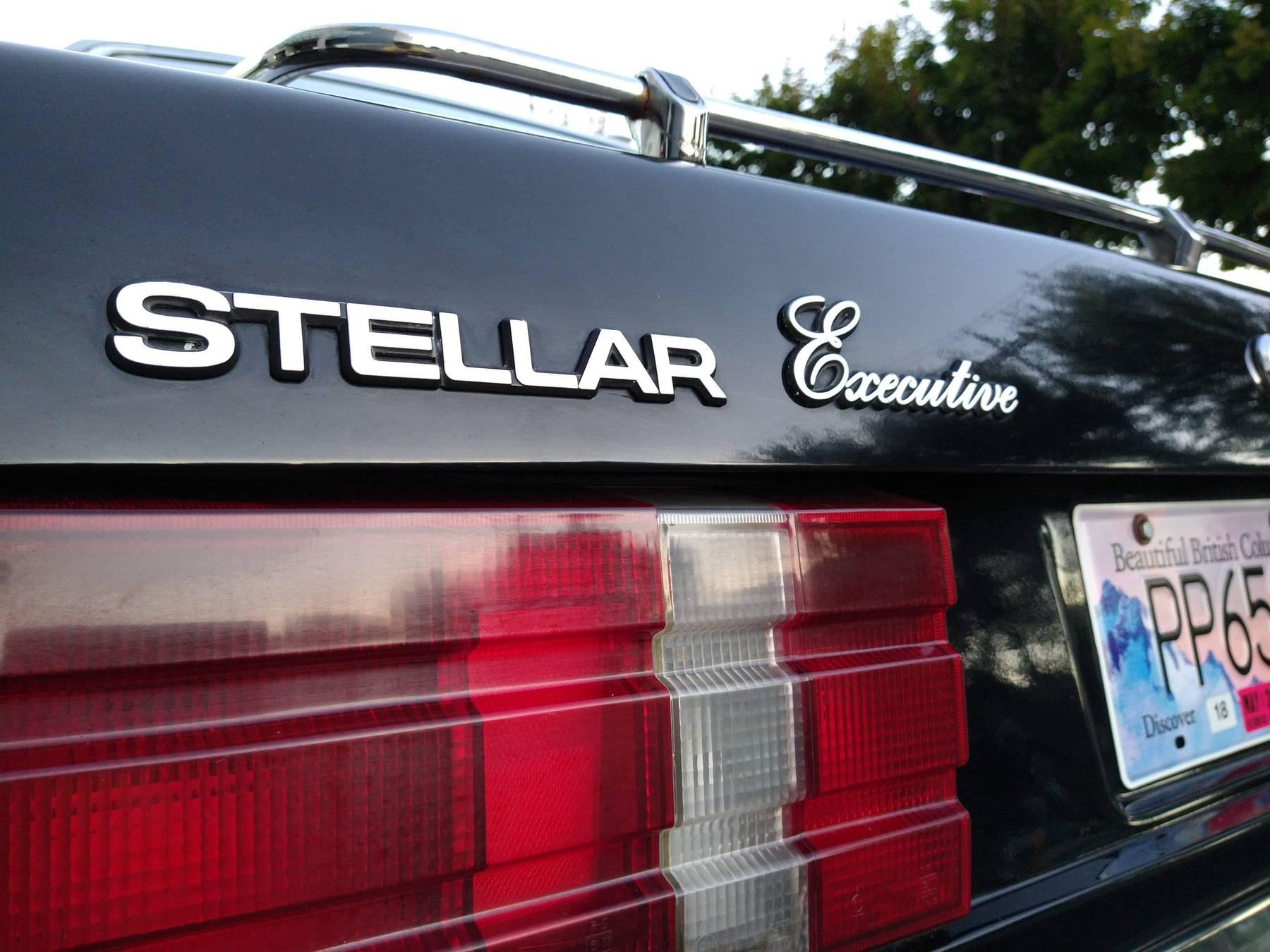 1986 Hyundai Stellar Executive badging