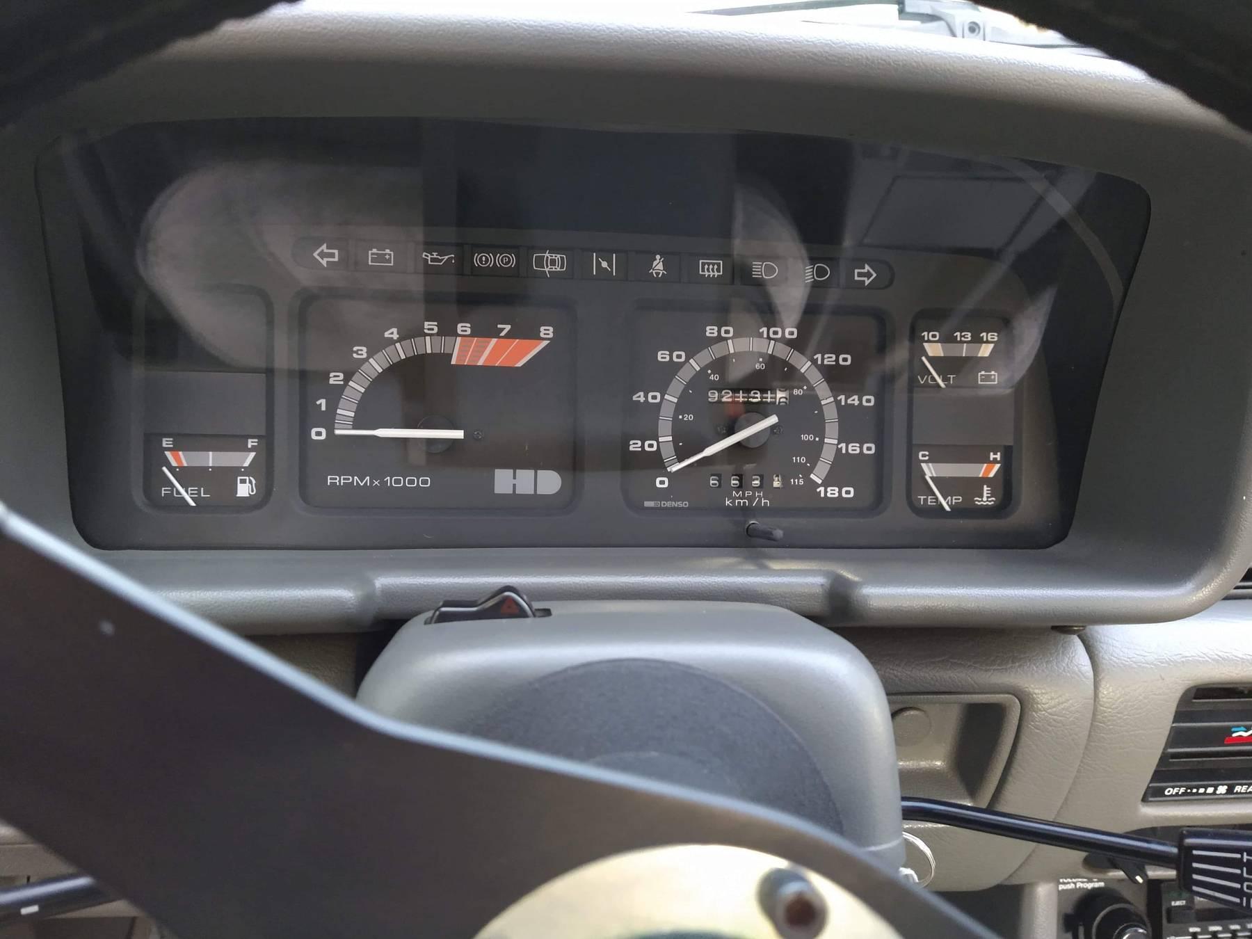 1986 Hyundai Stellar Executive dash