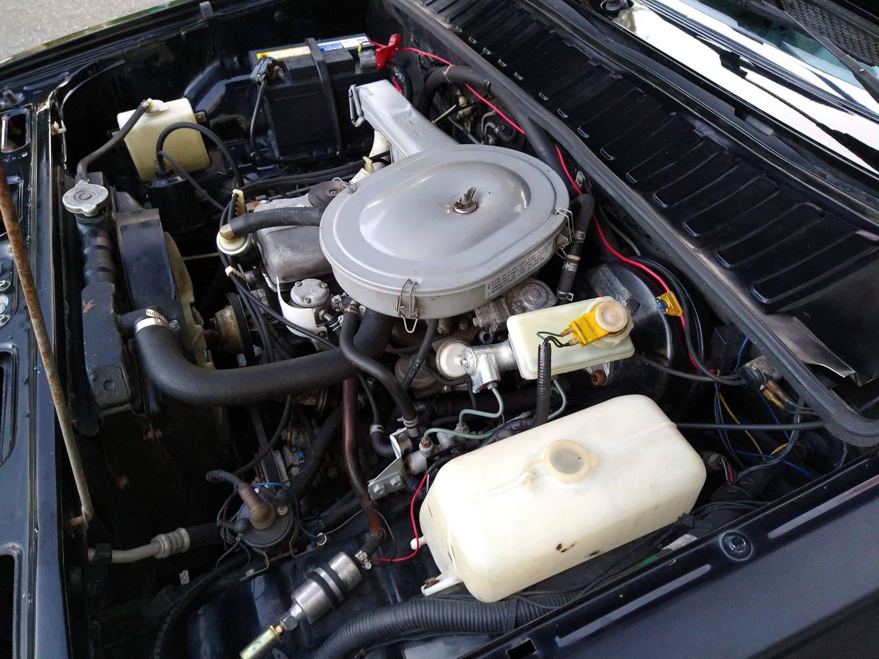1986 Hyundai Stellar Executive engine bay angle