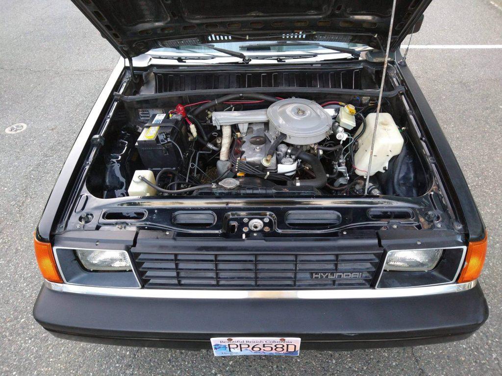 1986 Hyundai Stellar Executive engine bay