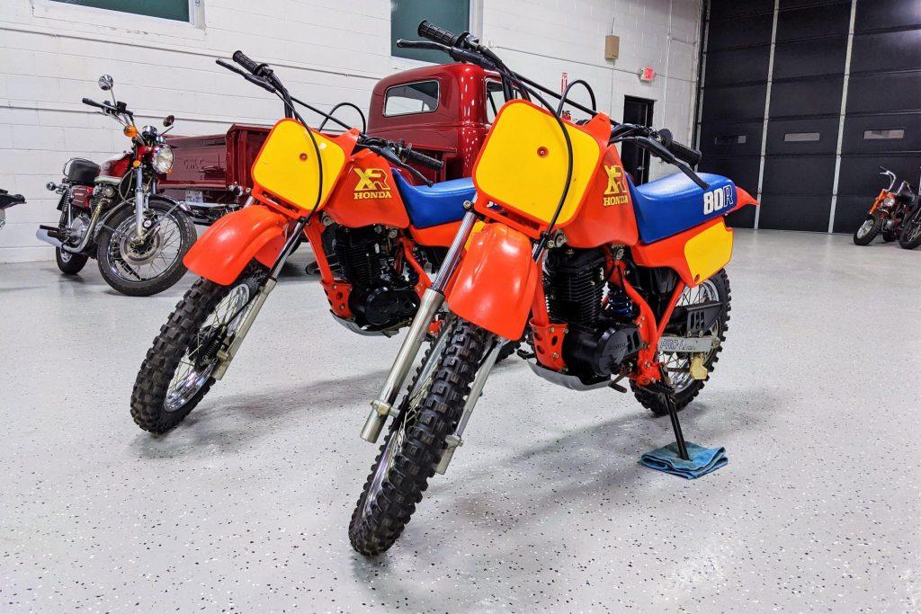 1986 Honda XR80R Bring a Trailer pair