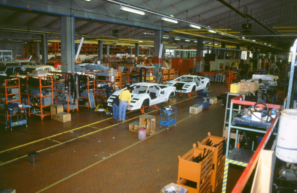 Lamborghini factory countach assembly