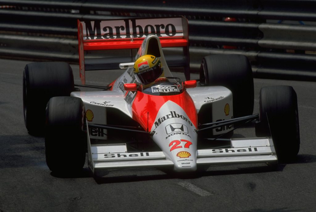Ayrton Senna front dynamic action