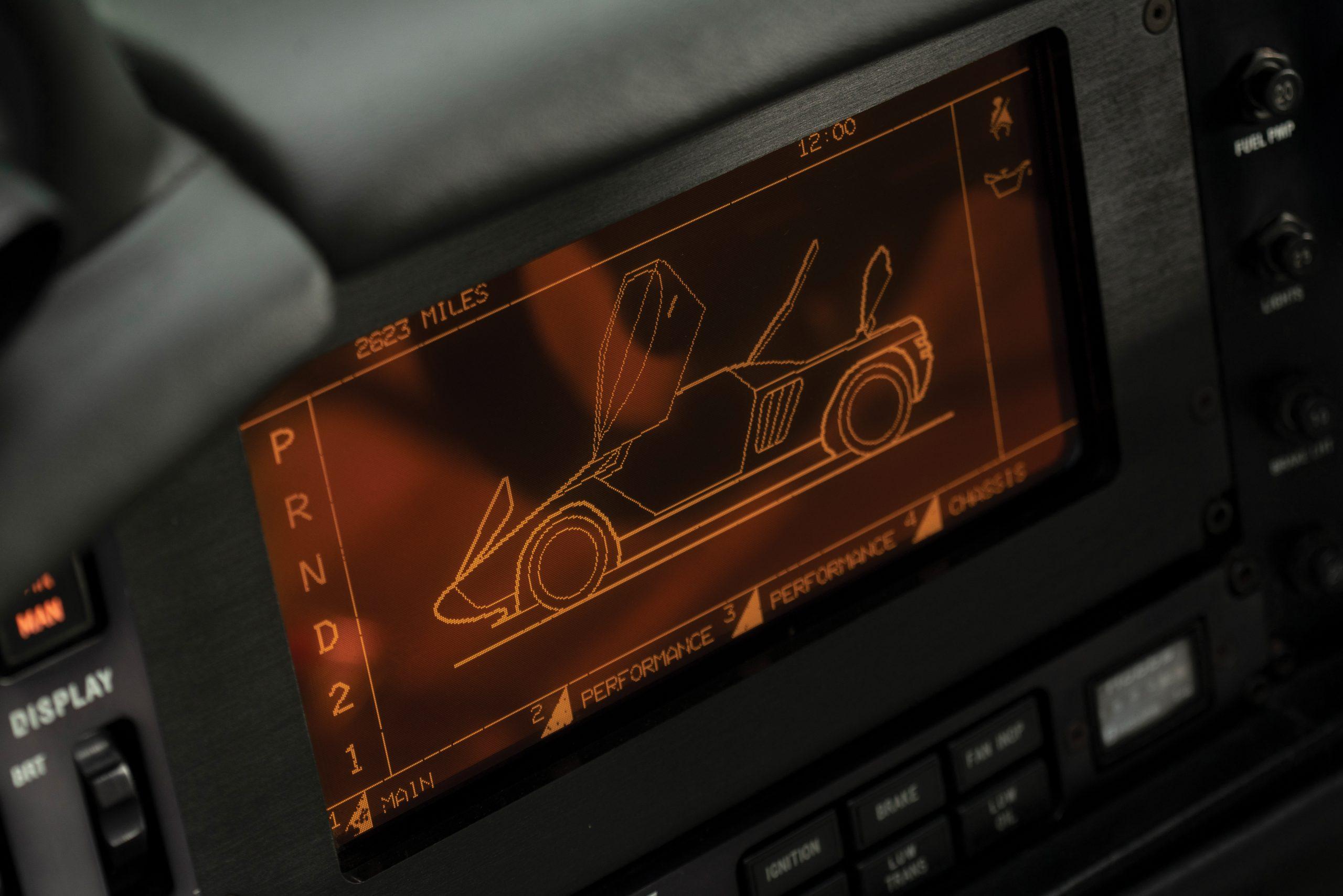 1993 Vector Avtech WX Prototype interior digital dash