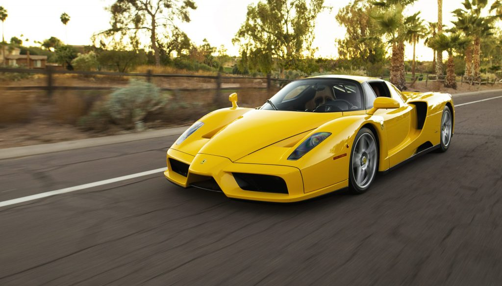 Ferrari Enzo front three-quarter dynamic action