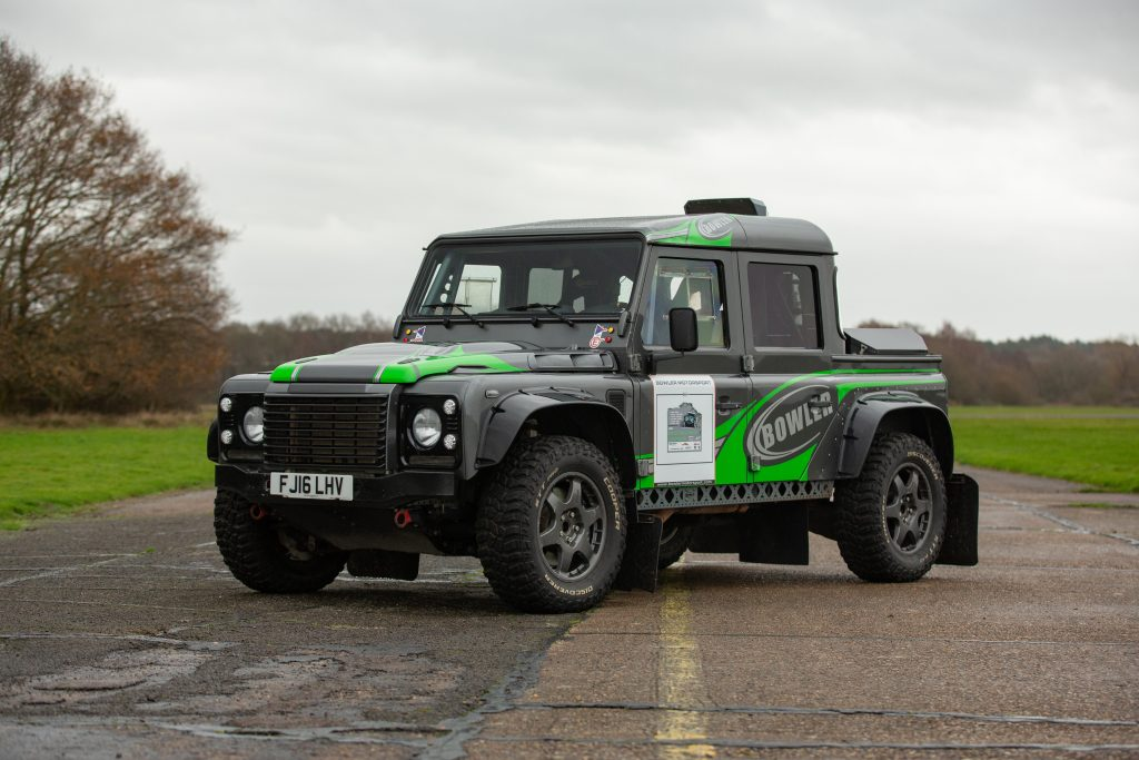 Land Rover Bowler CSP V8 Prototype front three-quarter