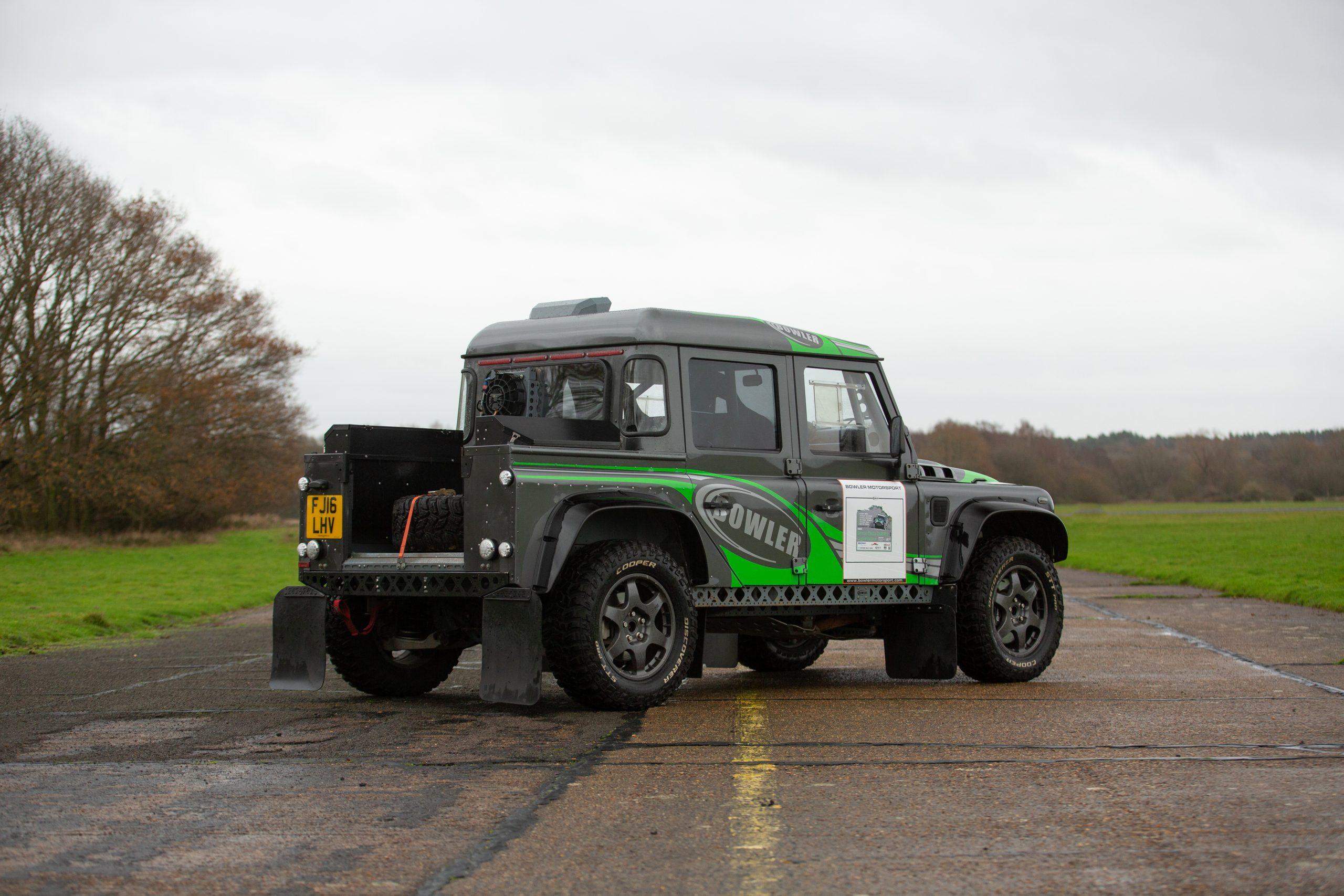Land Rover Bowler CSP V8 Prototype rear three-quarter