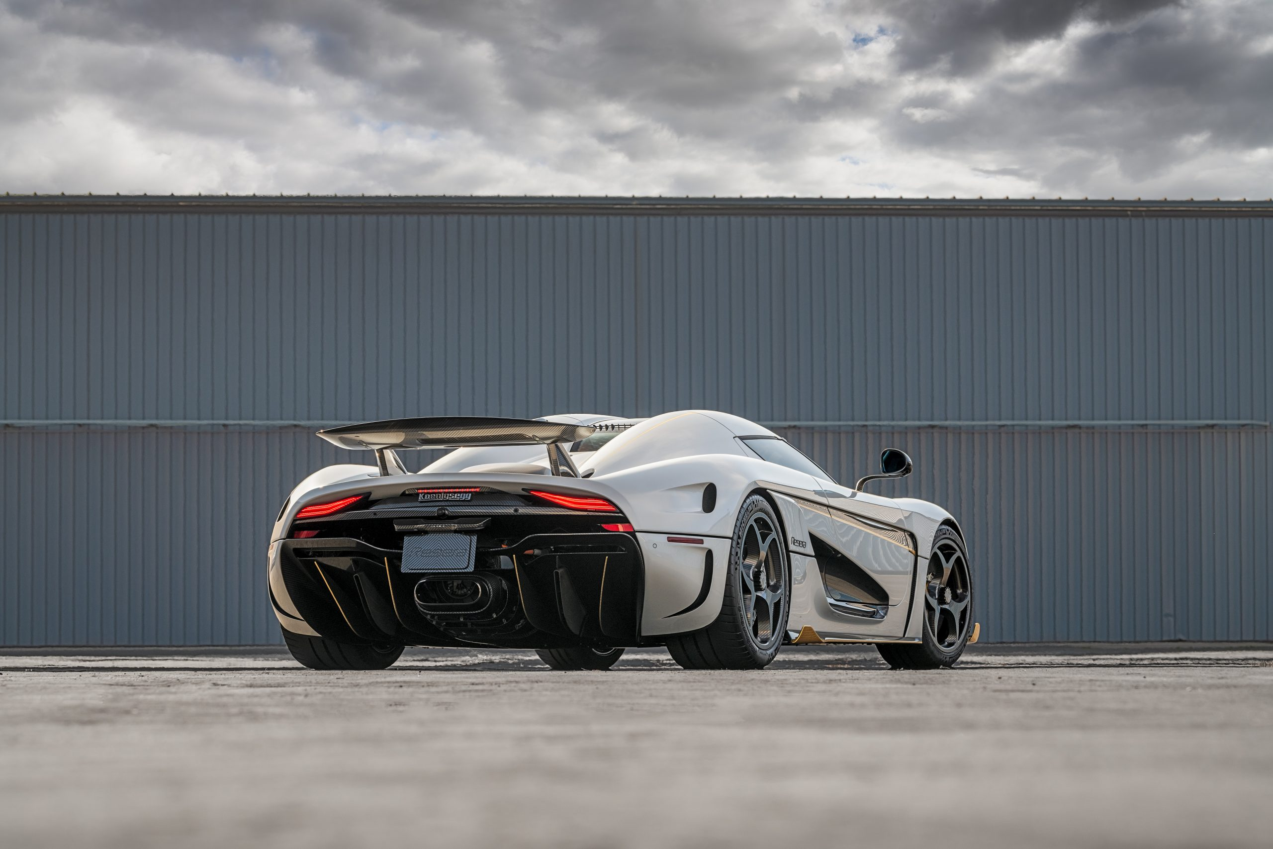 Koenigsegg Regera rear three-quarter