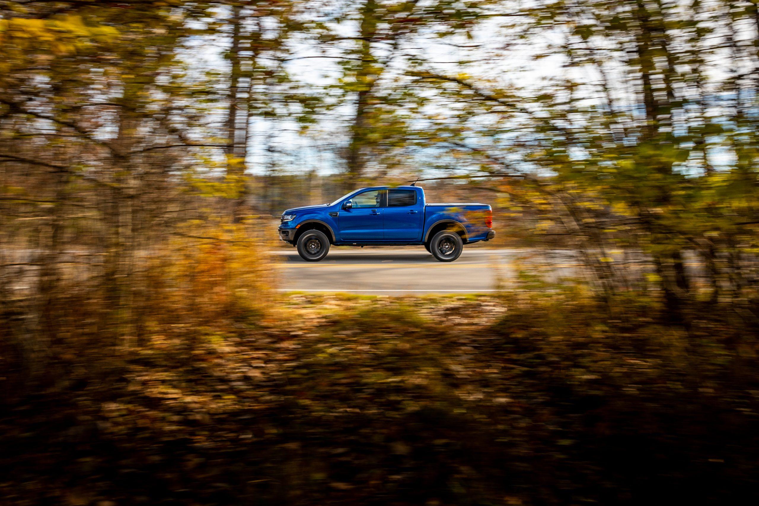 2020 Ford Ranger Lariat CN drivers side driving side shot