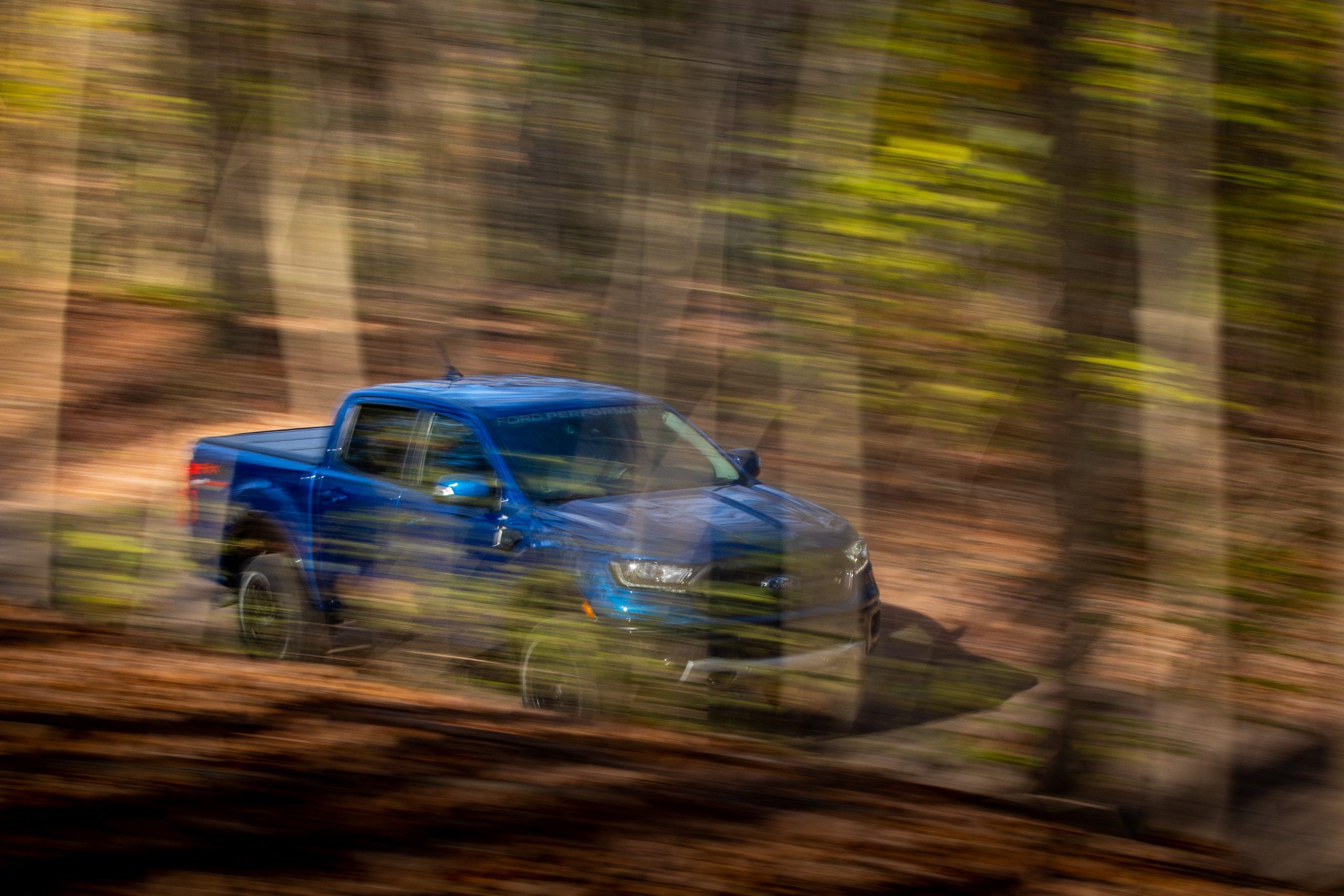 2020 Ford Ranger Lariat CN speeding through trees