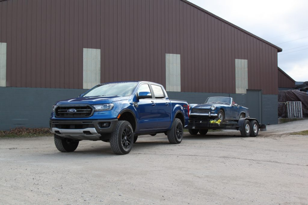 2020 Ford Ranger Lariat towing Healey
