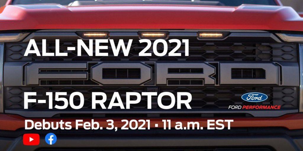 2021 raptor teaser announce date ford f150