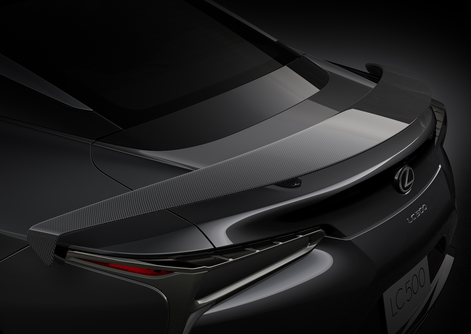 2021 Lexus LC 500 Inspiration Series wing detail close up