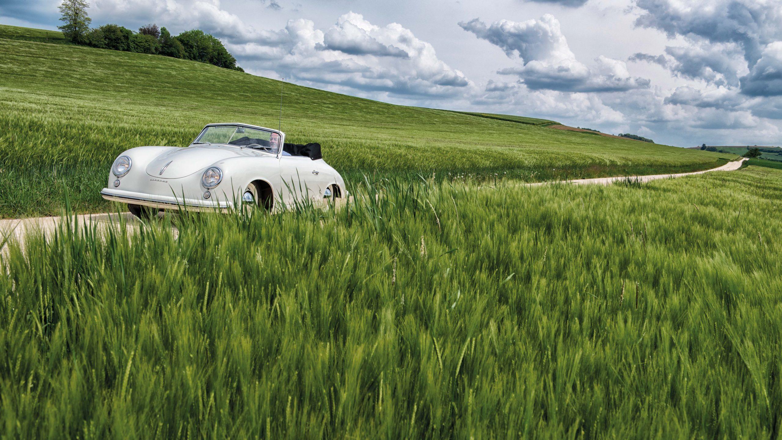 Porsche 356 1500 Pre-A Cabriolet front three-quarter action
