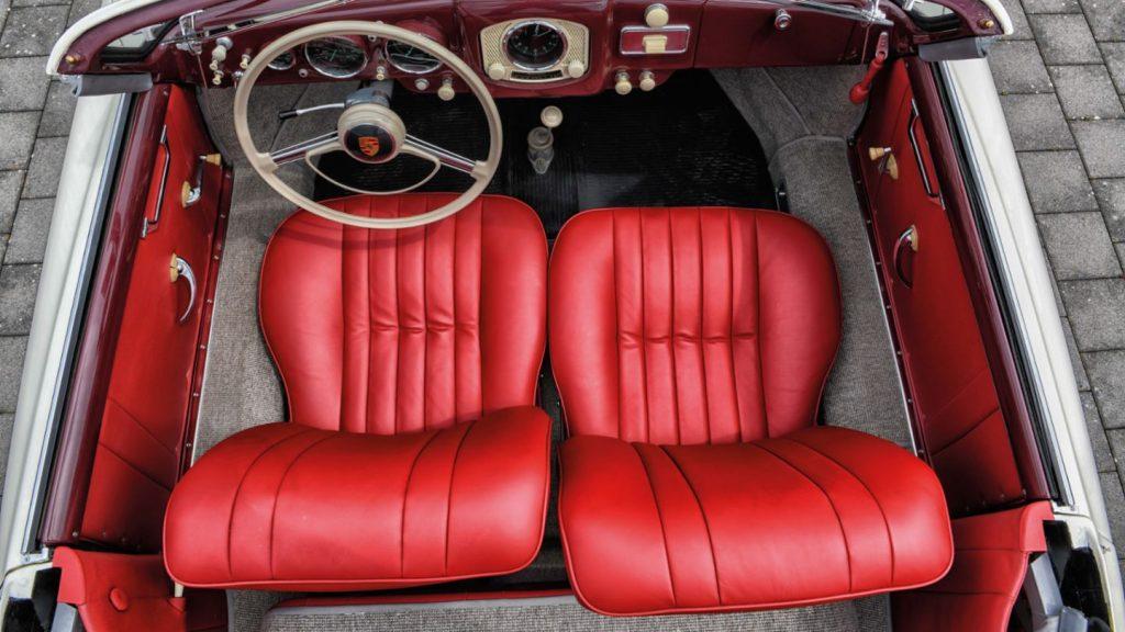 Porsche 356 1500 Pre-A Cabriolet overhead interior