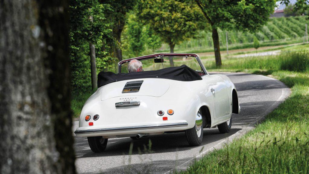 Porsche 356 1500 Pre-A Cabriolet rear action