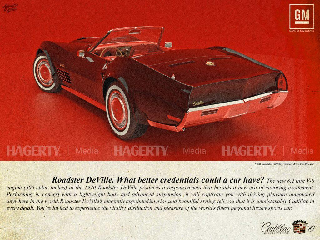 68 Cadillac Roadster DeVille GM General Motors Ad mock up