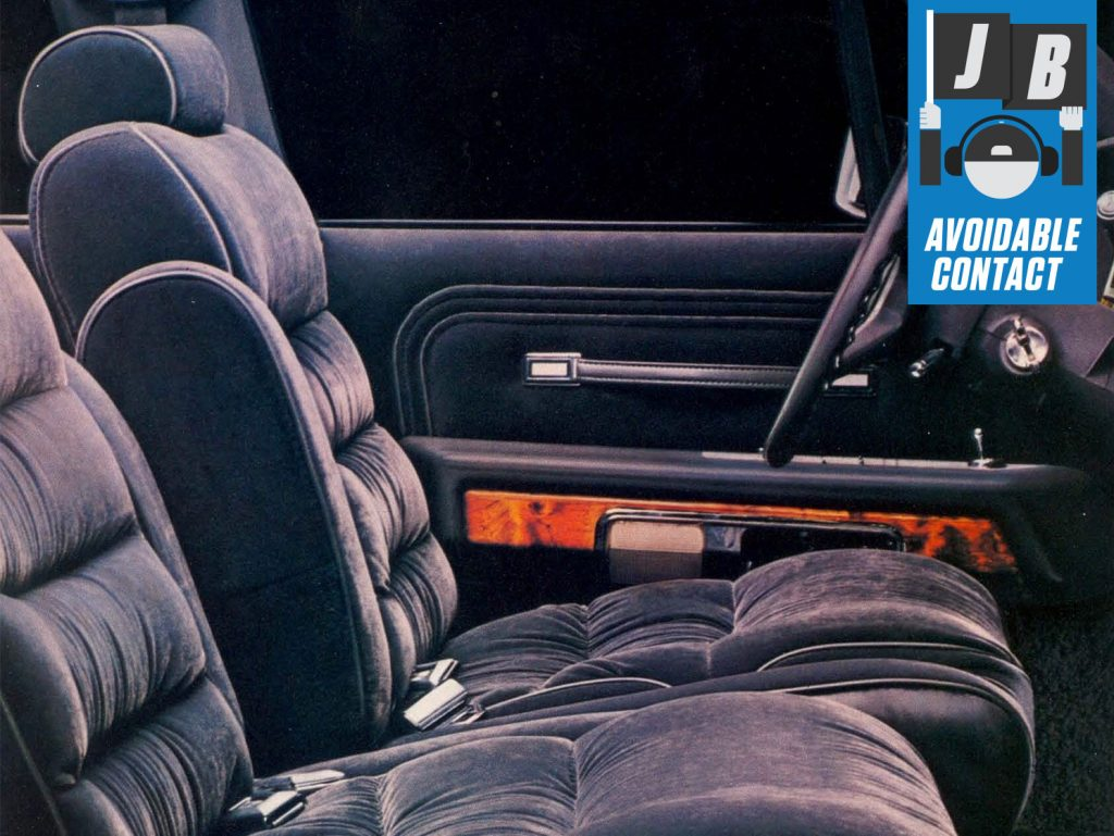 Grand Marquis LS velour interior avoidable contact column thumb