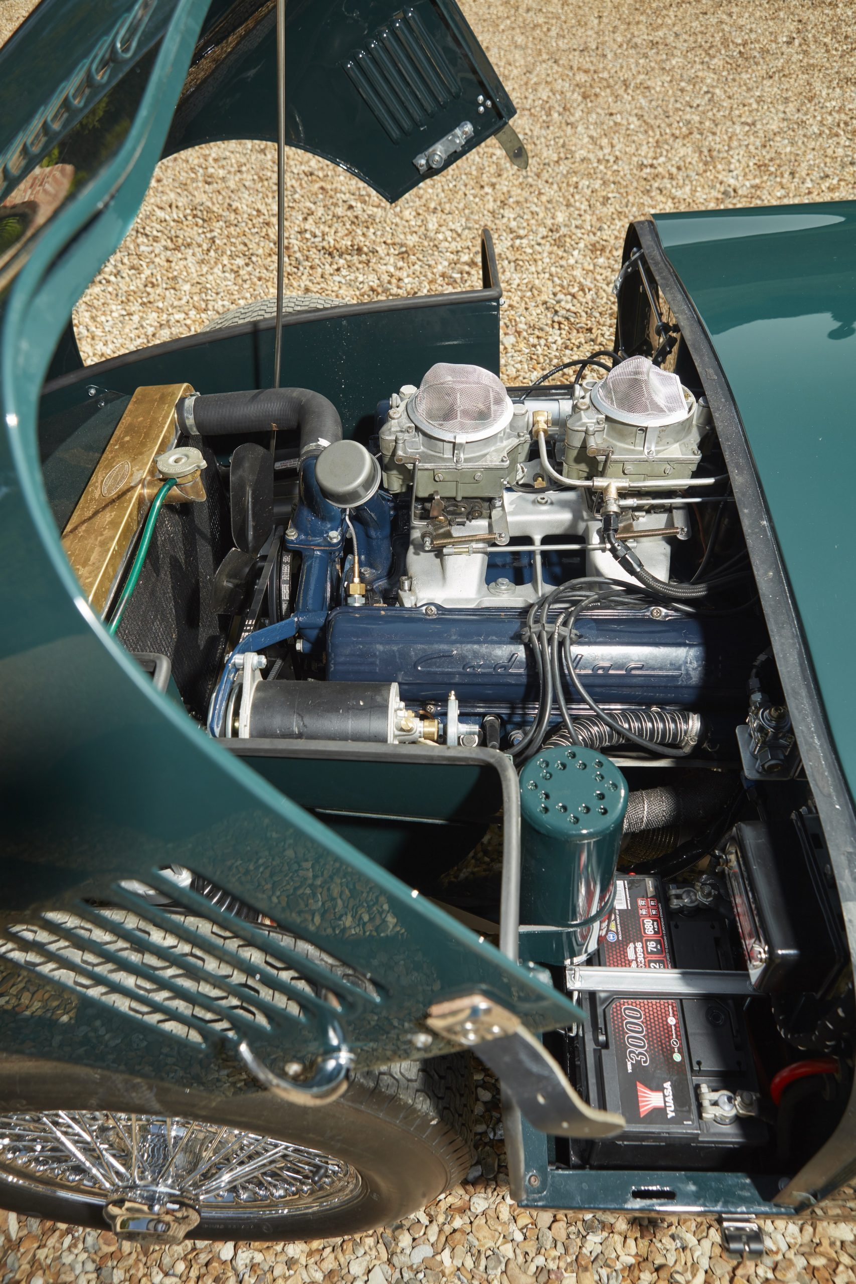Allard JR continuation car engine vertical