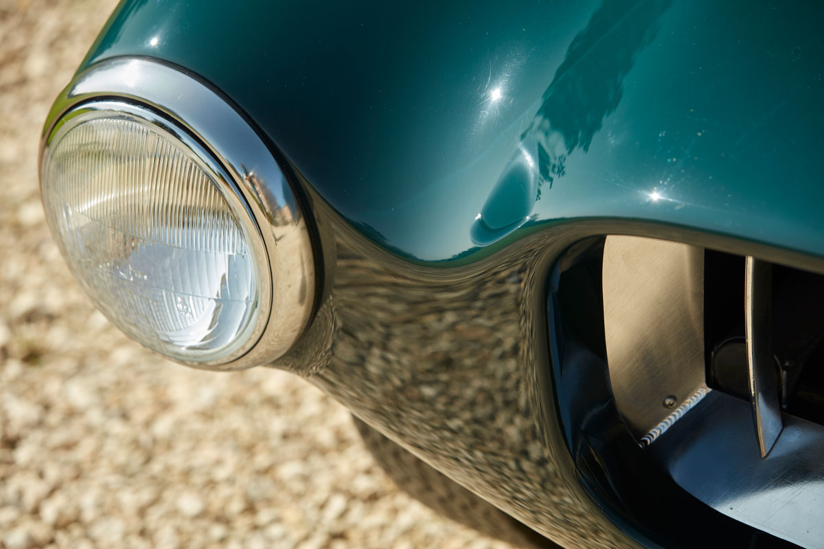Allard JR continuation car headlight detail