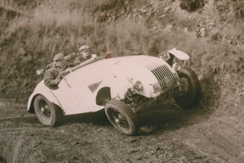 1946 Allard J1 in competition action