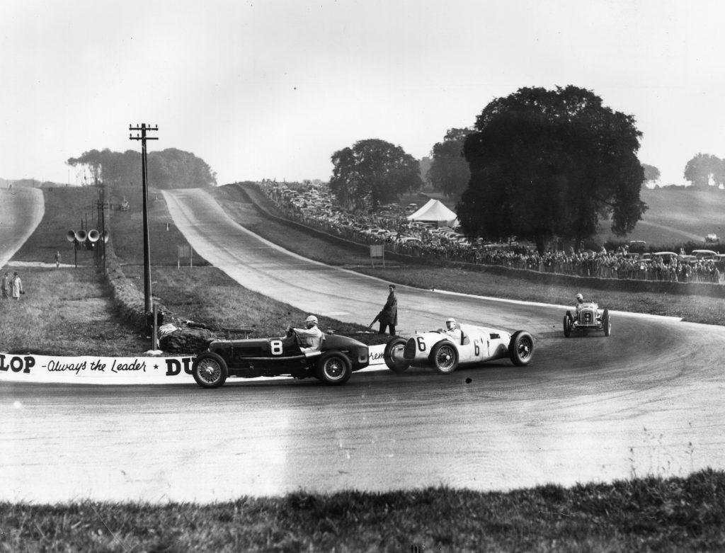 Bernd Rosemeyer Donington Grand Prix action