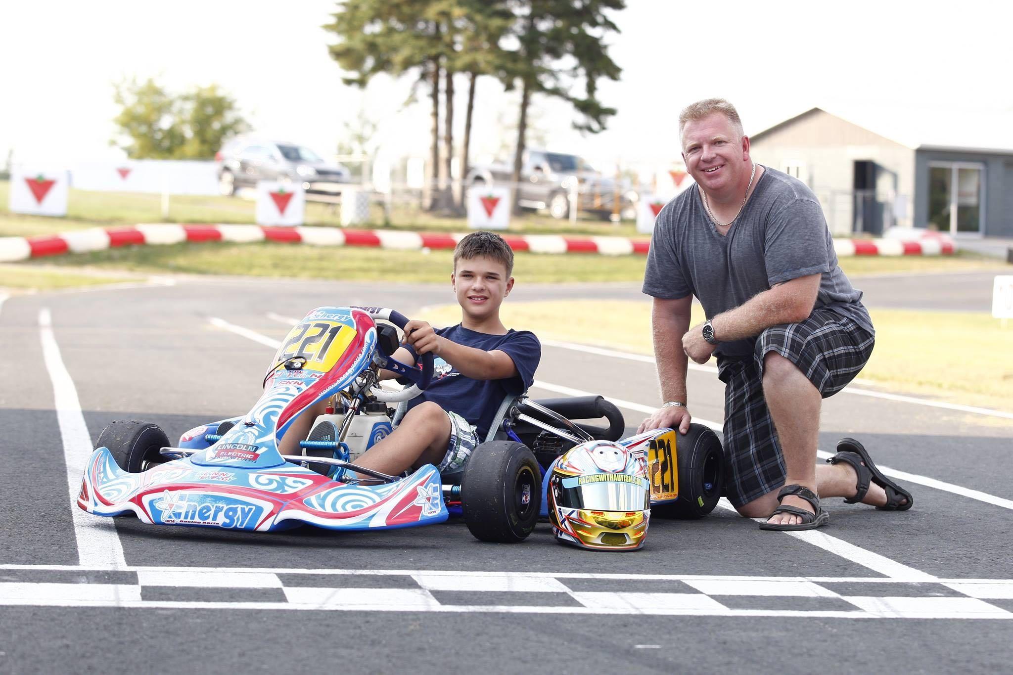 Racing with Autism Austin Riley kart