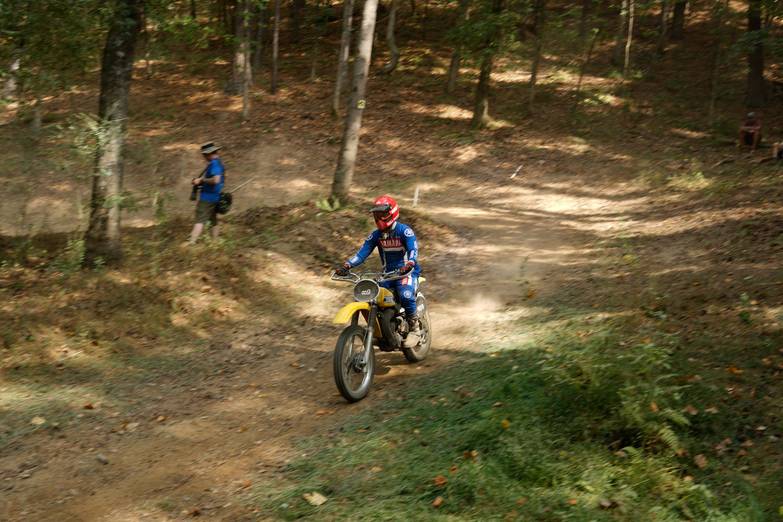 Kyle Smith racing YZ125 at Barber Vintage Festival
