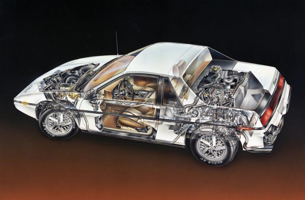 pontiac fiero transparent parts design graphic