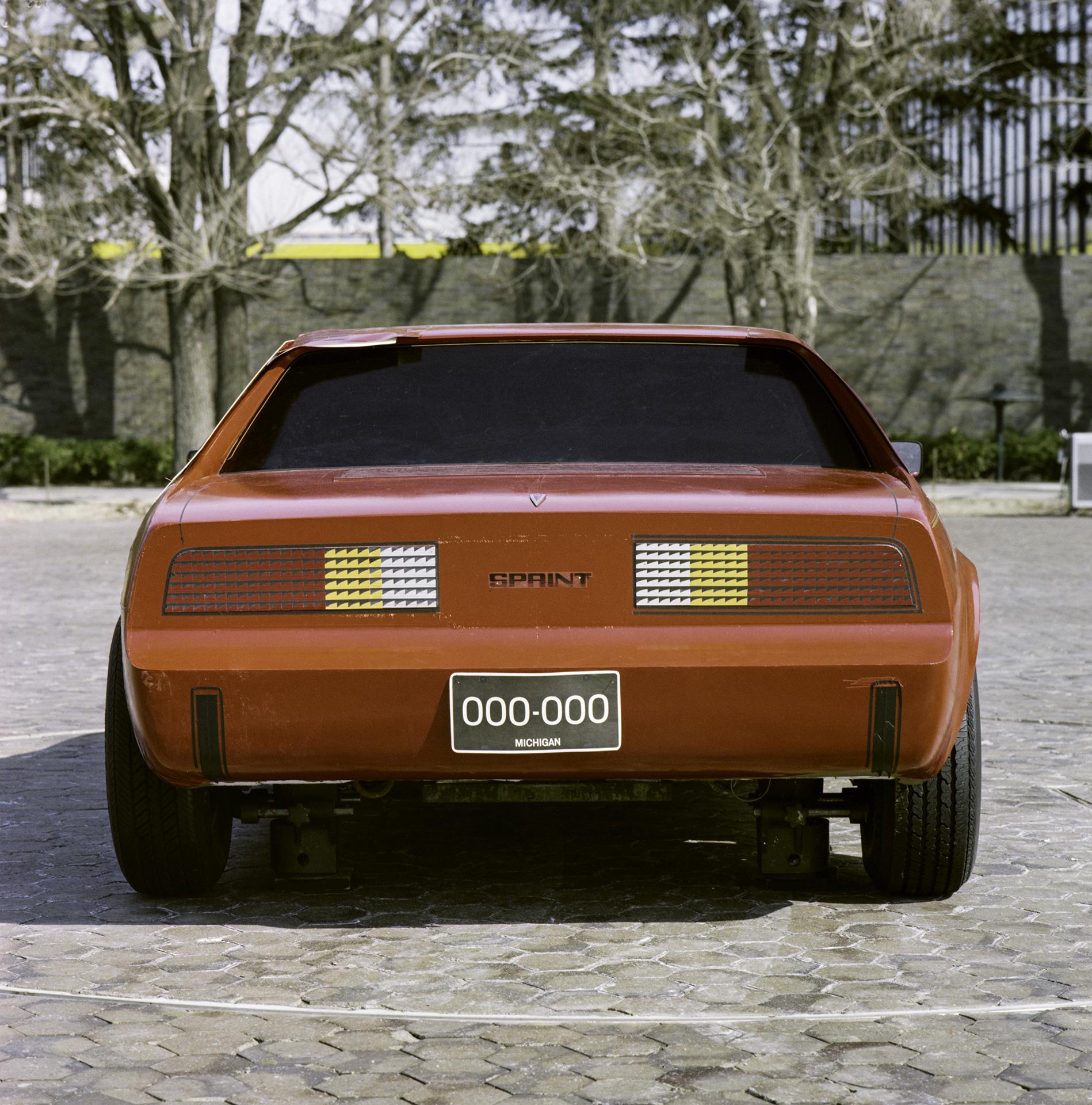1984 Pontiac P body Fiero rear