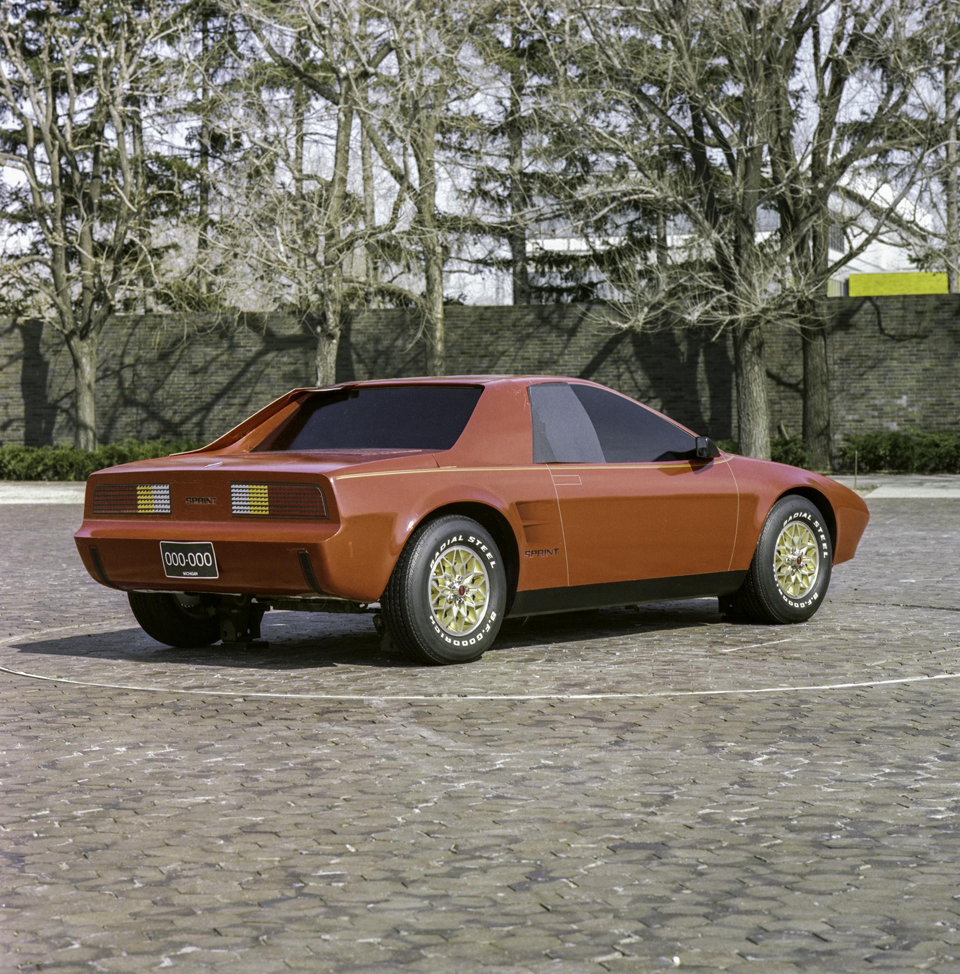 1984 Pontiac P body Fiero rear three-quarter
