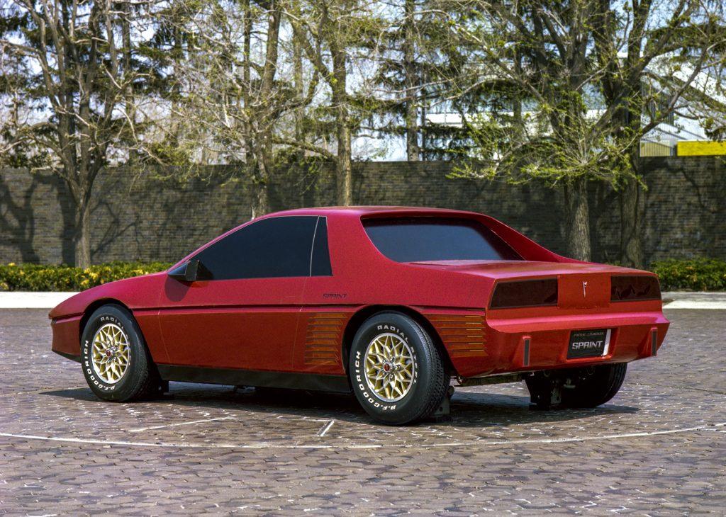 Pontiac P body Fiero rear three-quarter development