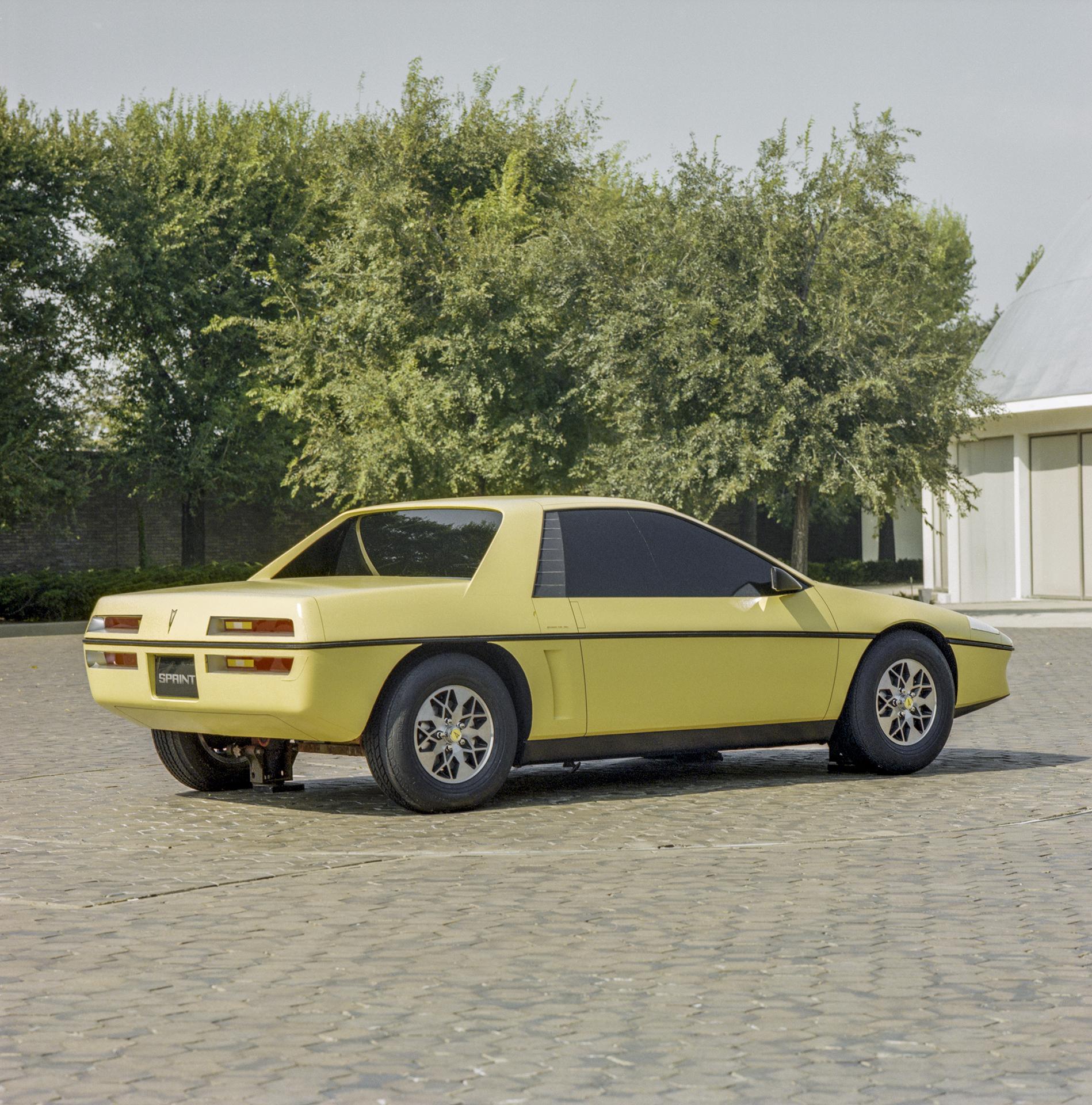 Pontiac P body Fiero development rear three-quarter