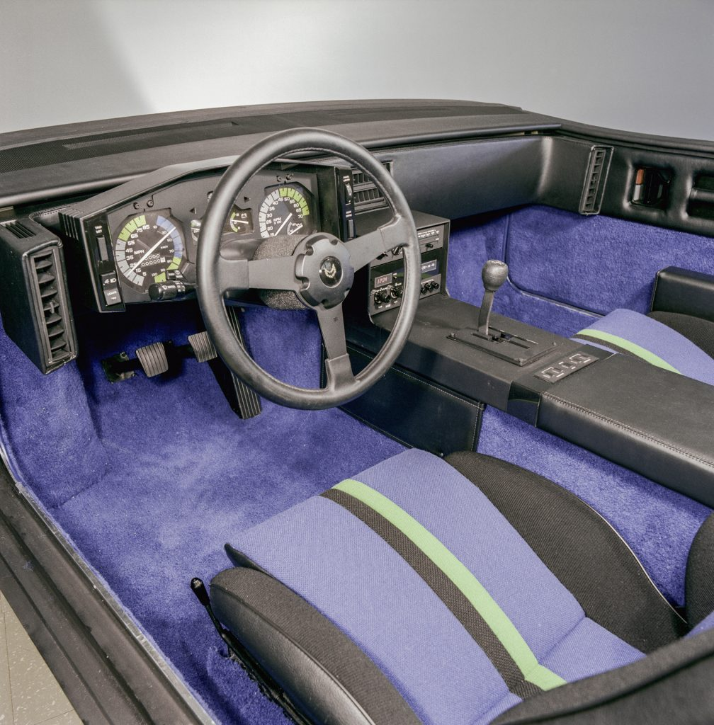 Pontiac P body Fiero development interior