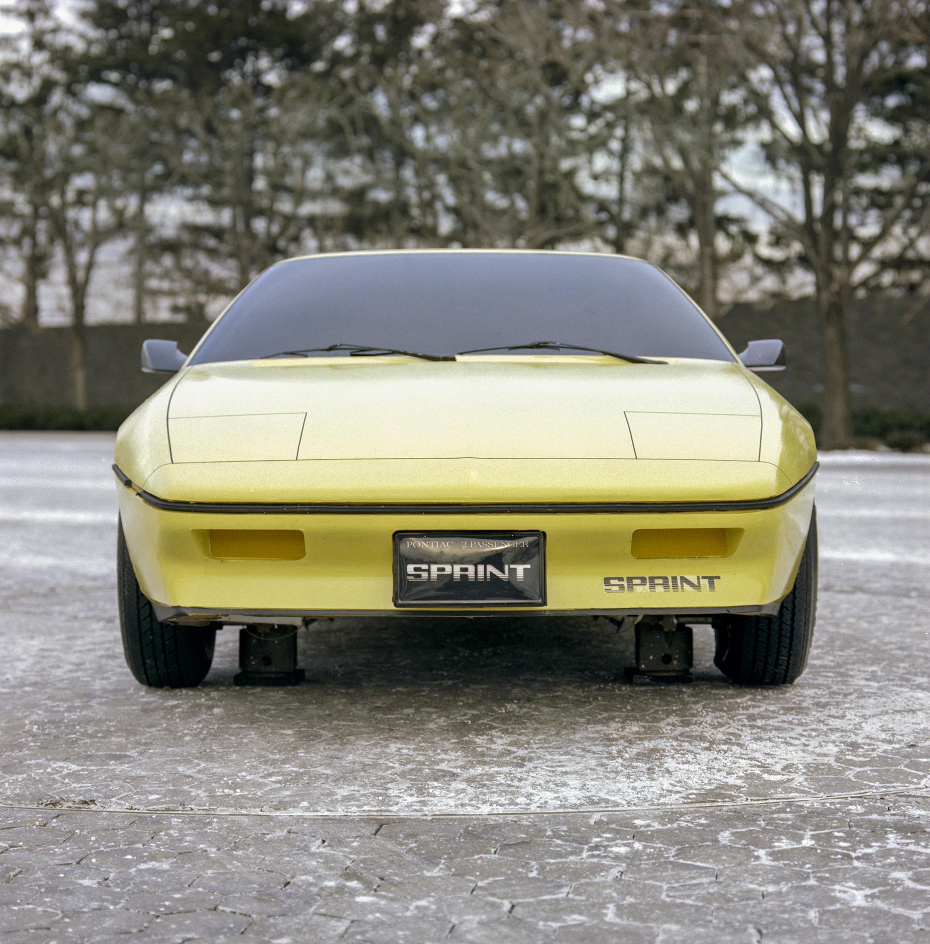 Pontiac P body Fiero development front