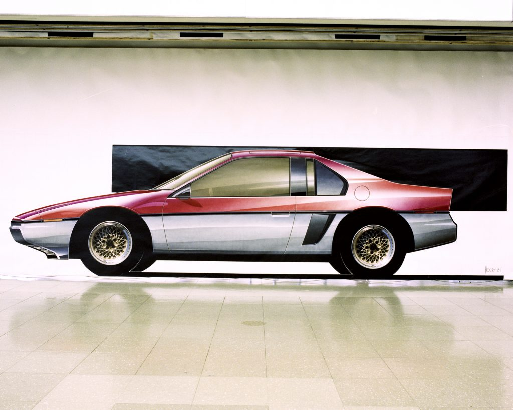 1983 Pontiac P-Body Fiero Rendering by Huguley
