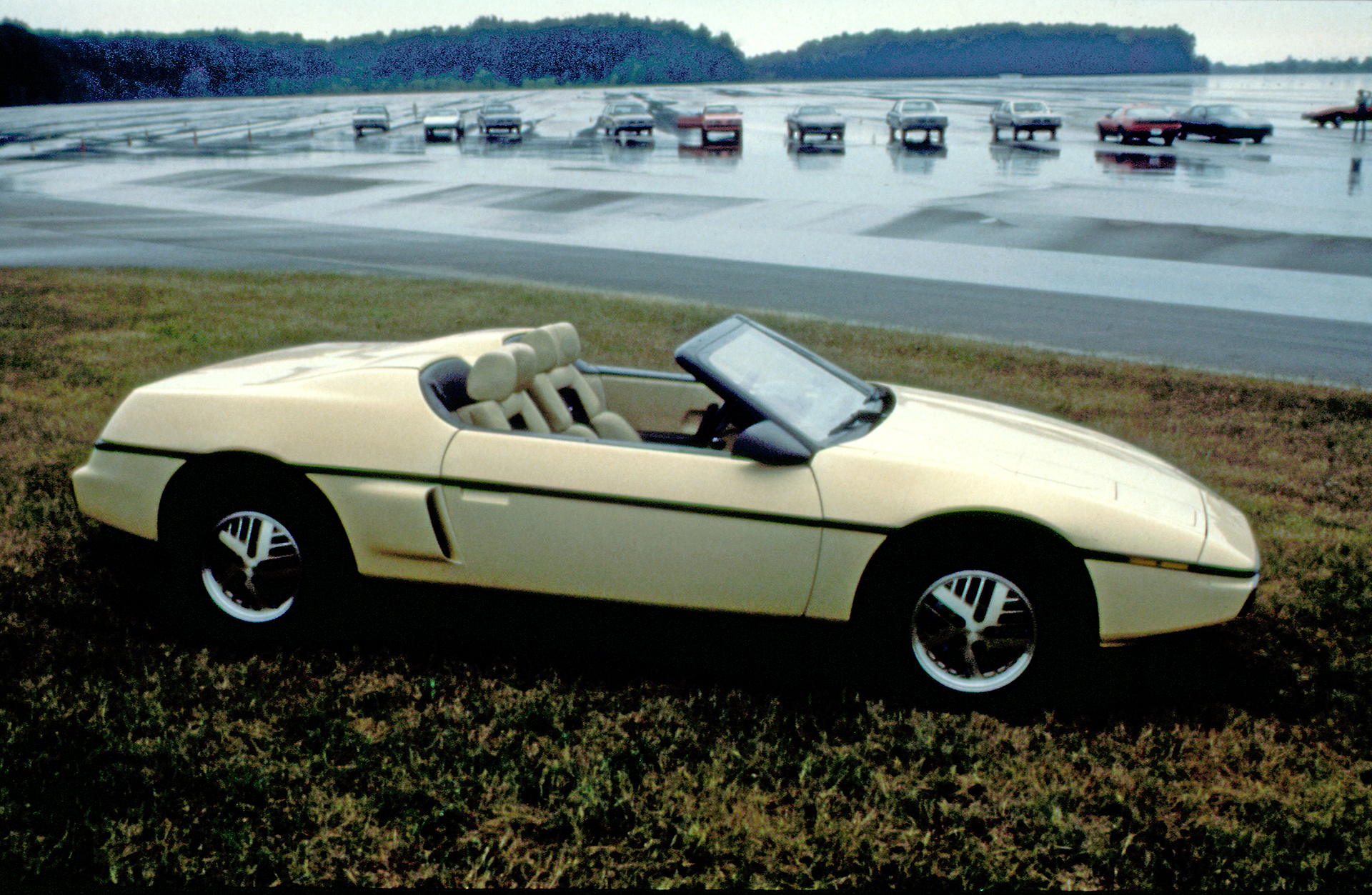 pontiac fiero convertible side profile