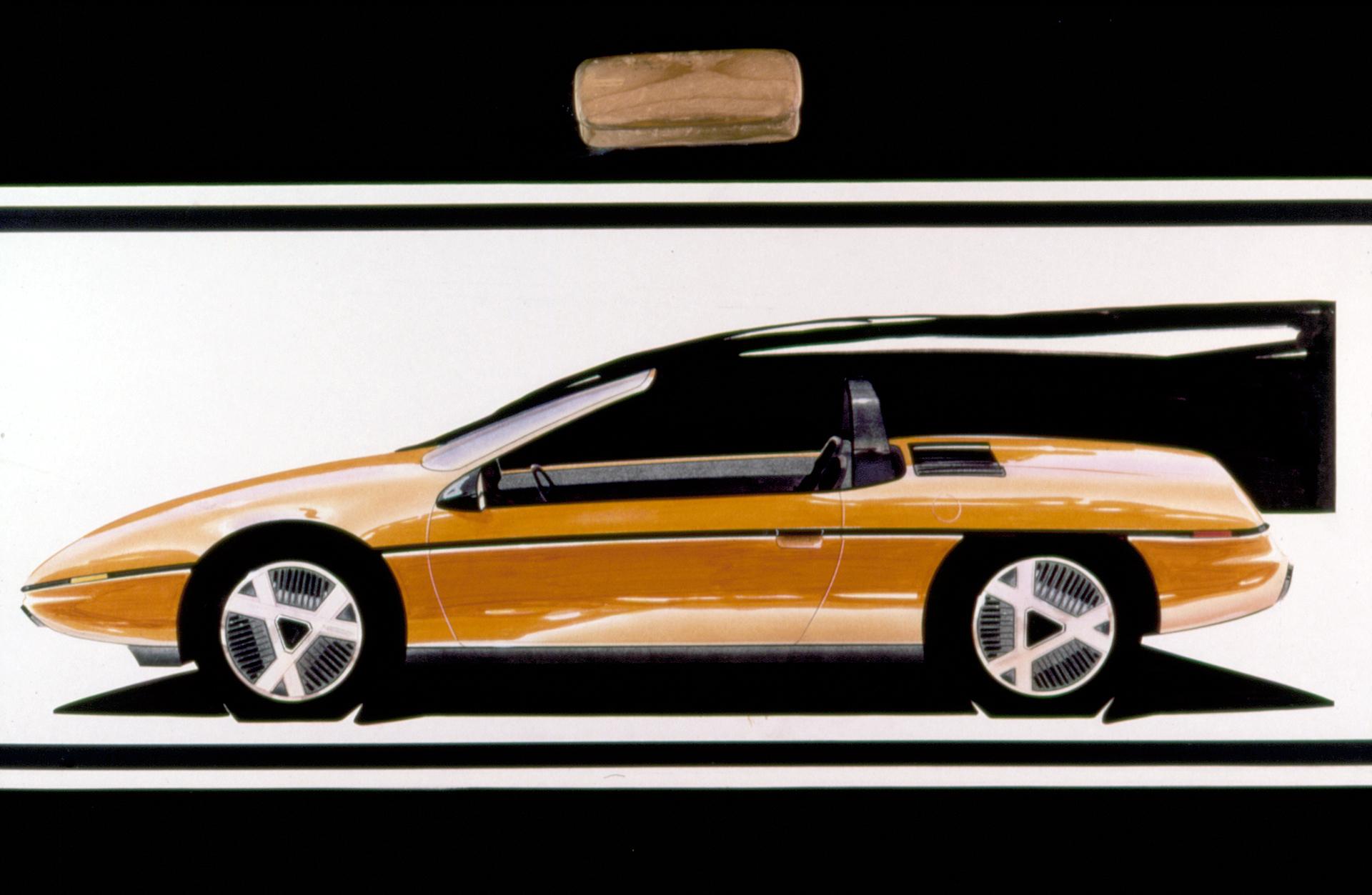 1985 Pontiac Fiero Design Sketch