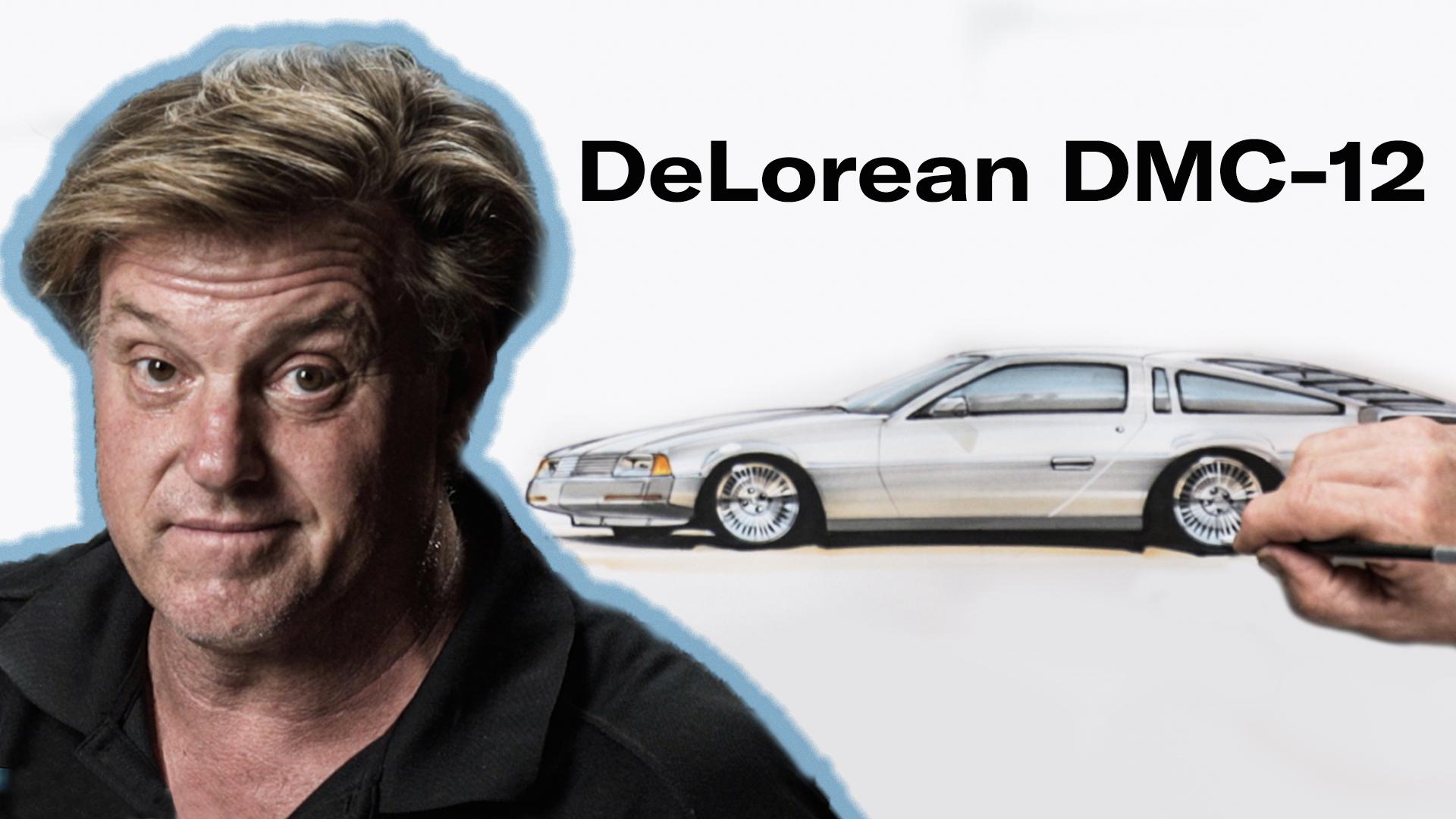 Chip Foose draws a DeLorean