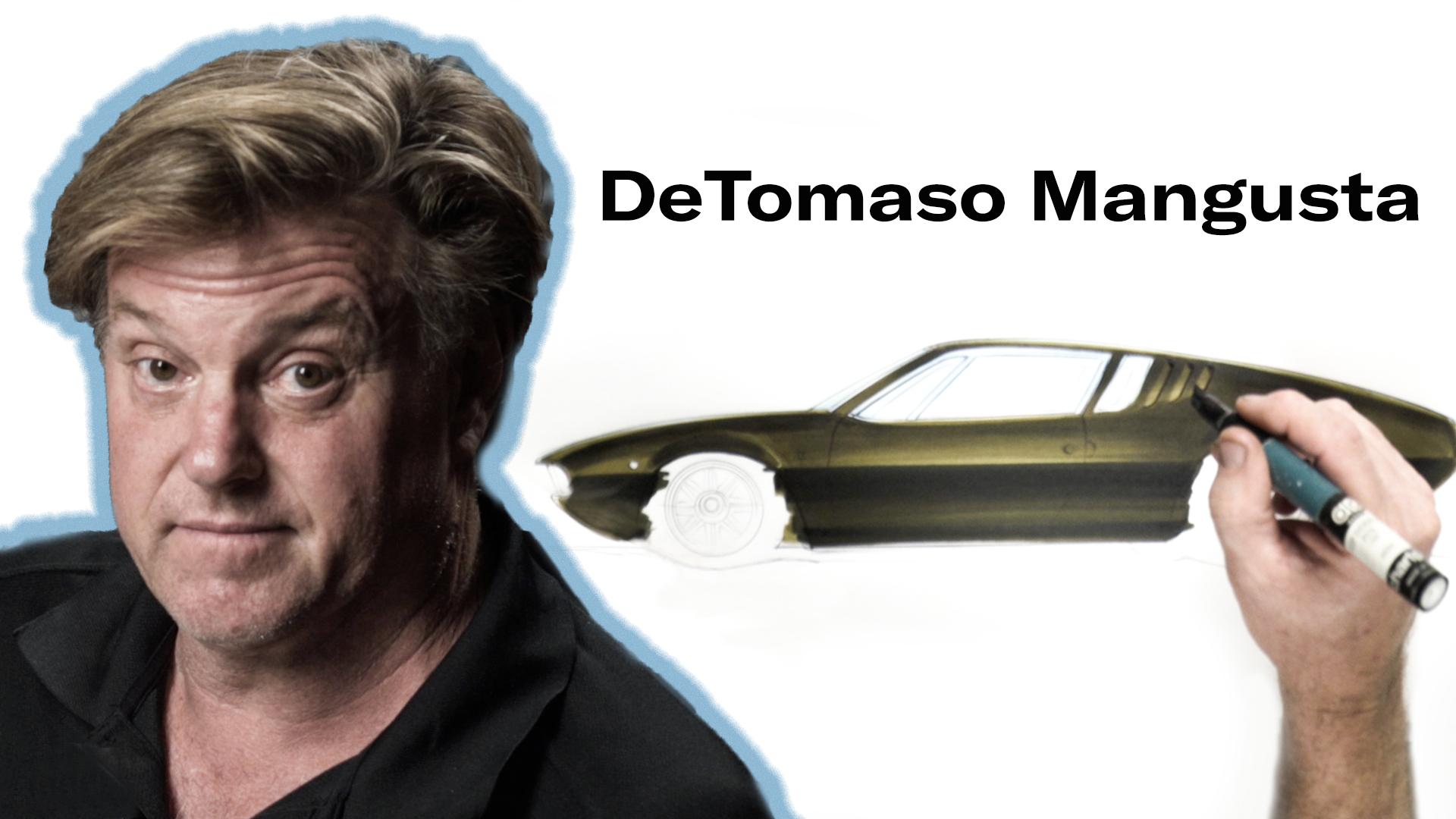 Chip Foose draws a Detomaso Mangusta