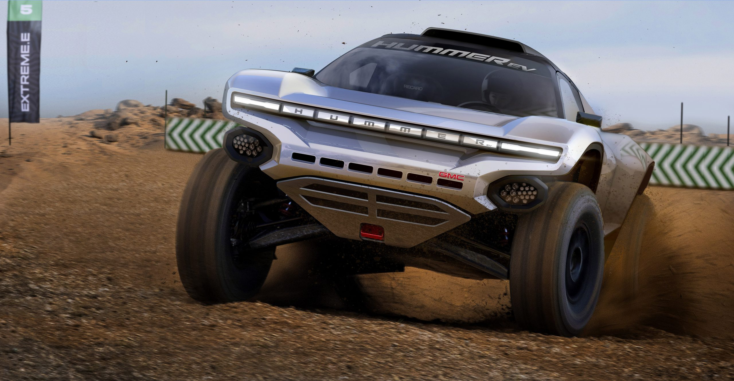 GMC is dressing up an off-road racer in Hummer EV costume