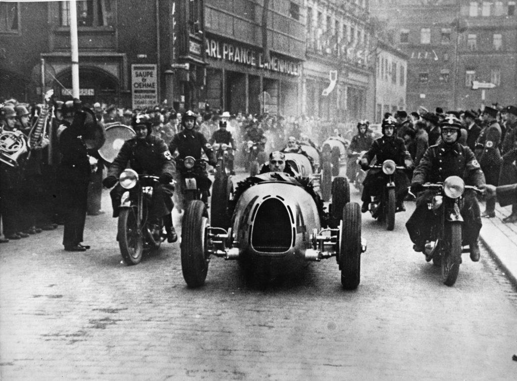 German Racing Drivers Honored parade action