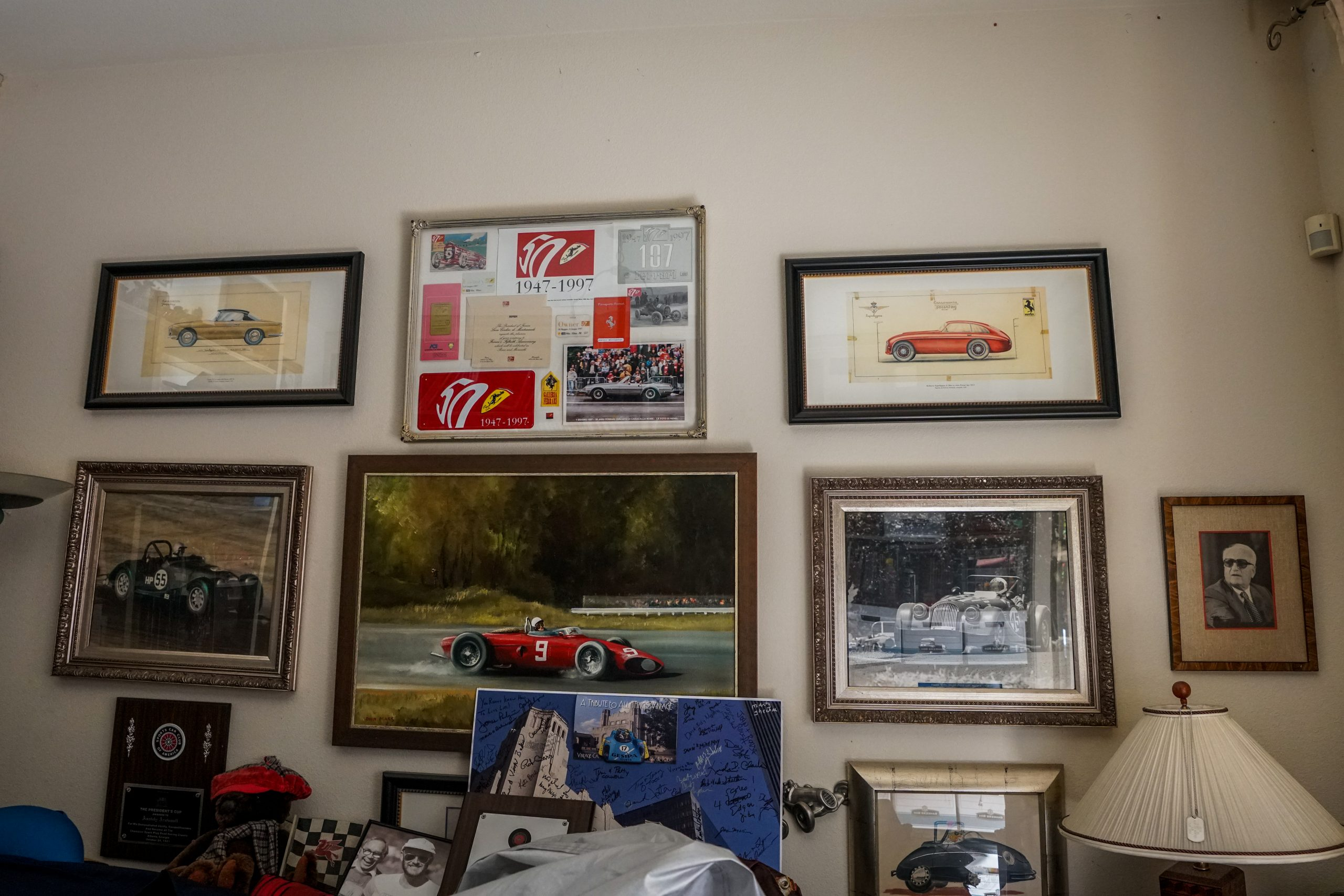 toly arutunoff ferrari pictures framed wall