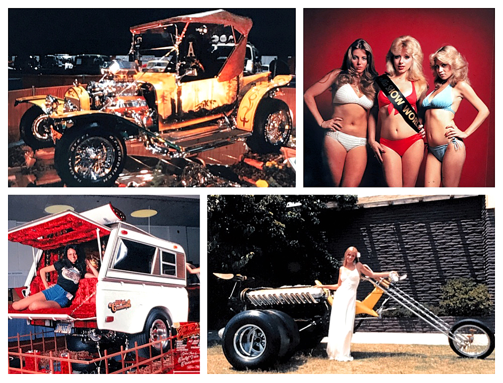 Hollywood Legends Customs and Show Girls collage