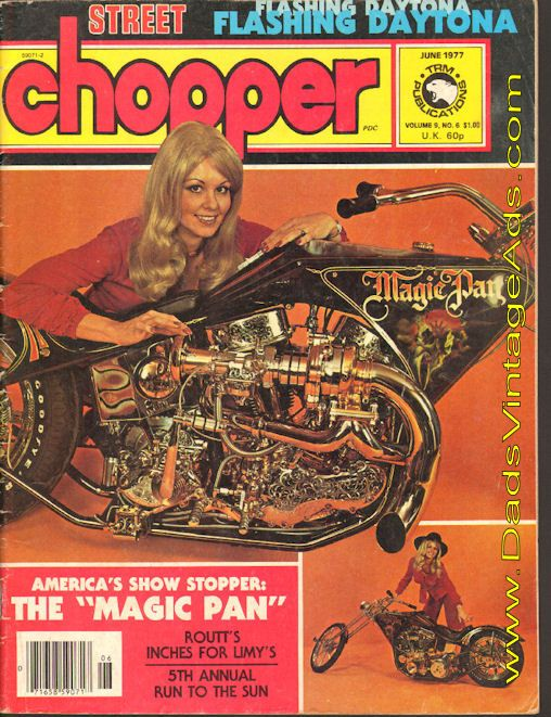 1977 Hollywood Legends Street Chopper Magazine cover