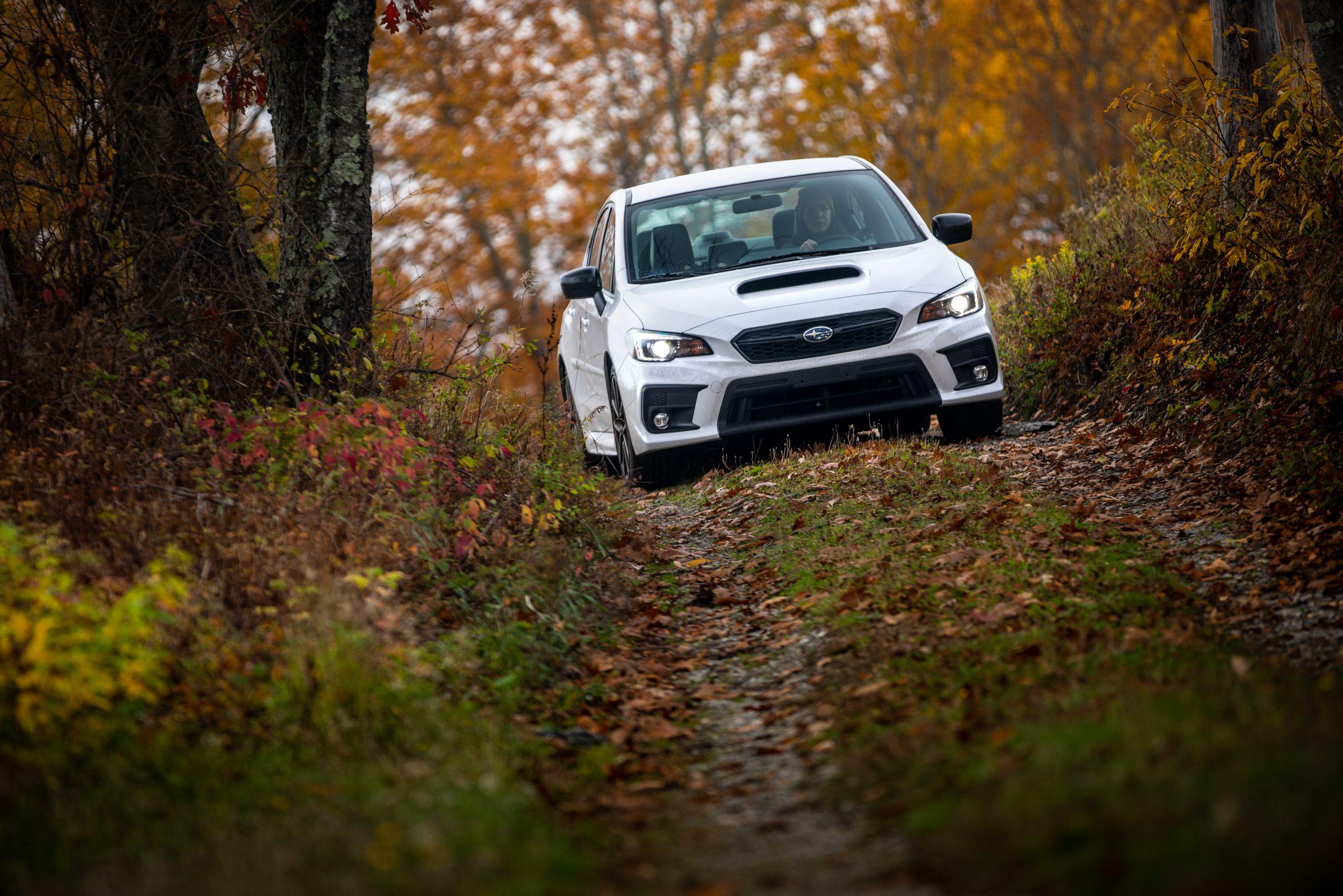 Subaru WRX Series.White road trip