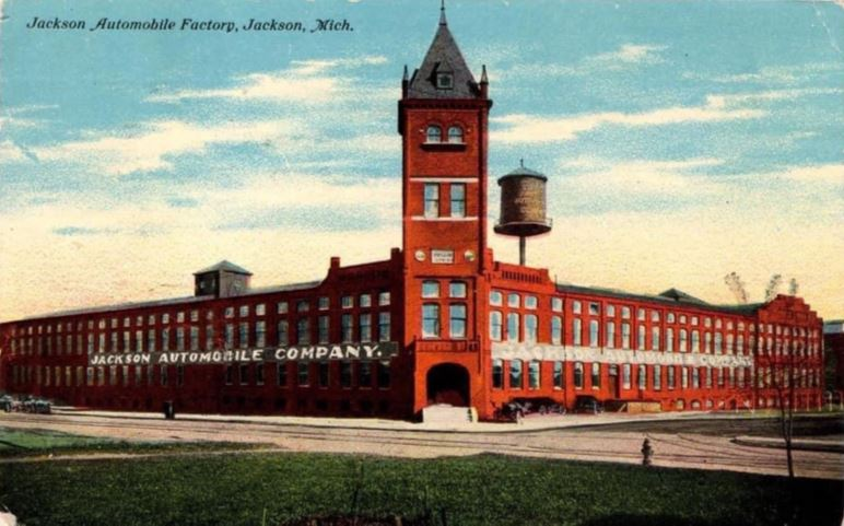 Jackson Automobile Factory postcard - Early 1900s