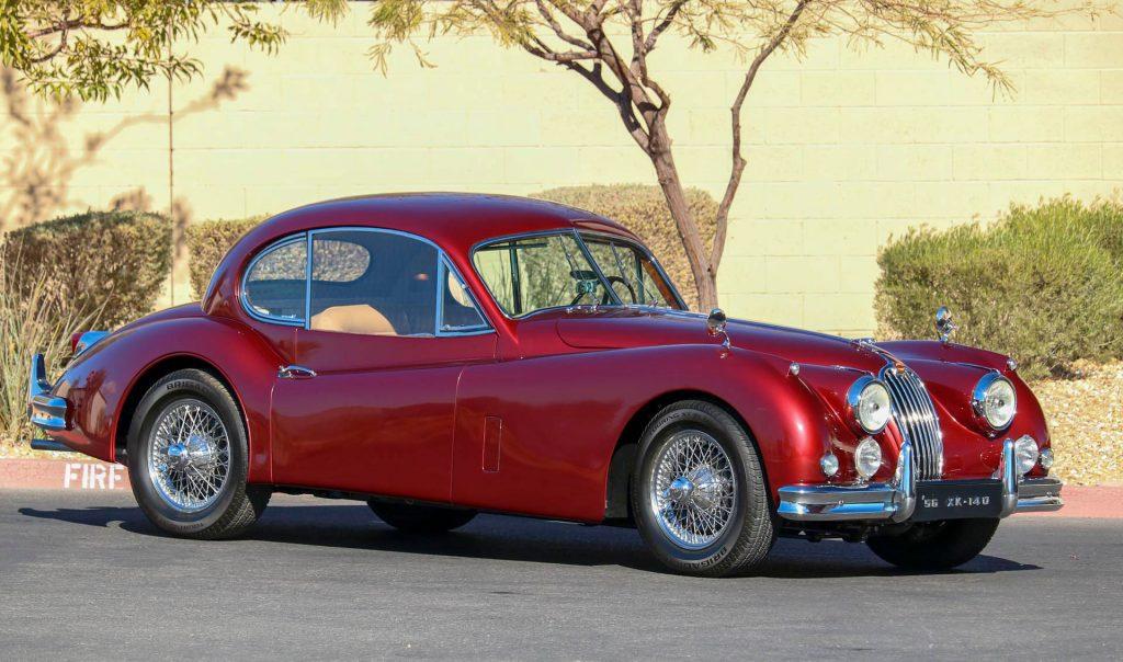 1956 Jaguar XK140 MC front three-quarter